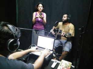 With Elvis Lobo, recording for Shreelancer
